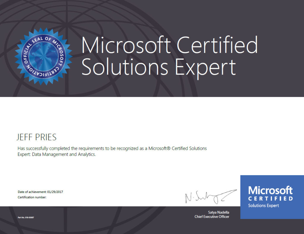 Microsoft Certification Exam 70 768 And 70 466 Study Tips Jeff Pries